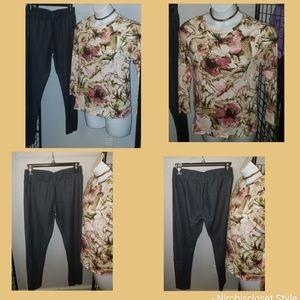 Cute long sleeve & leggings bundle